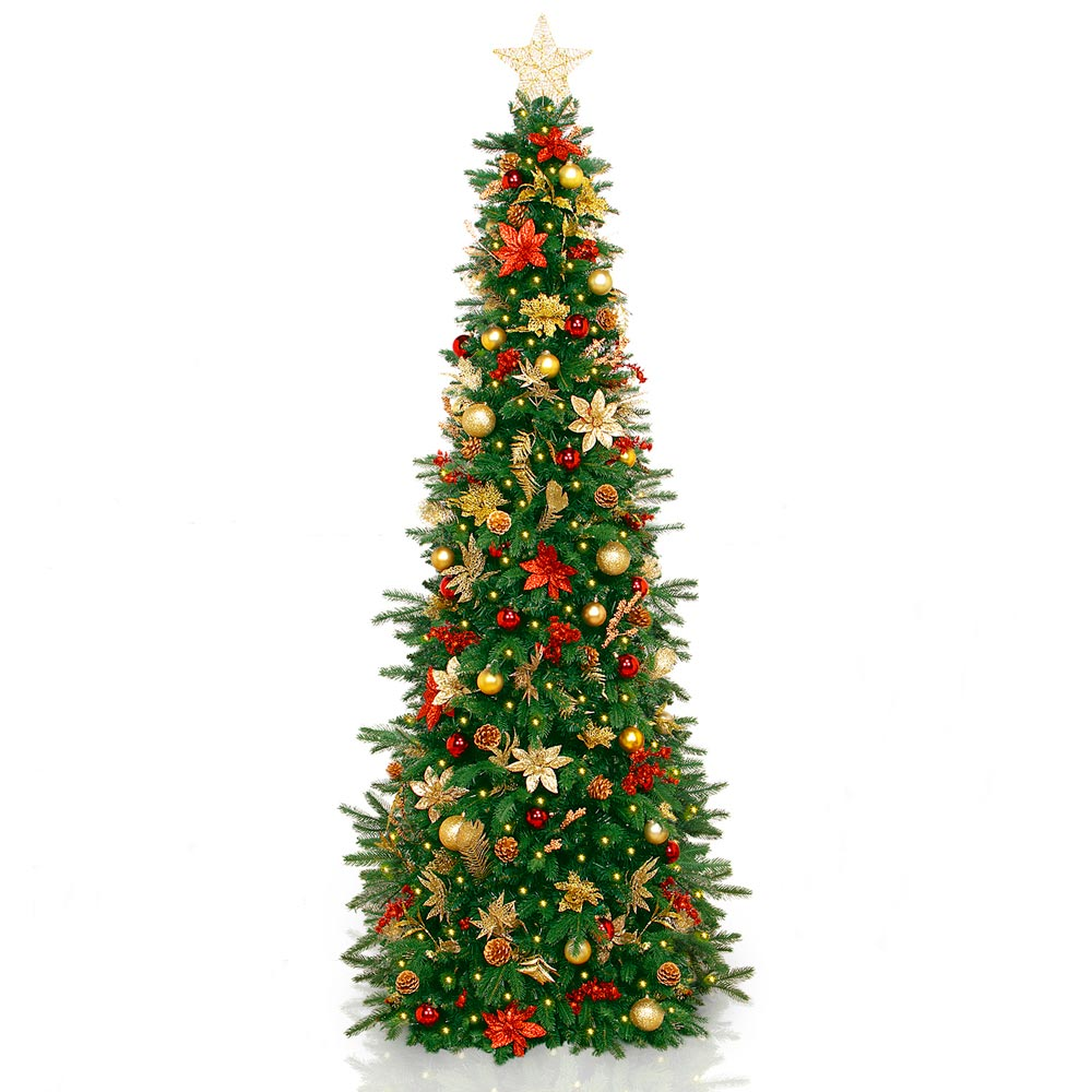 worlds first pre lit pre decorated christmas tree - Decorated Artificial Christmas Trees