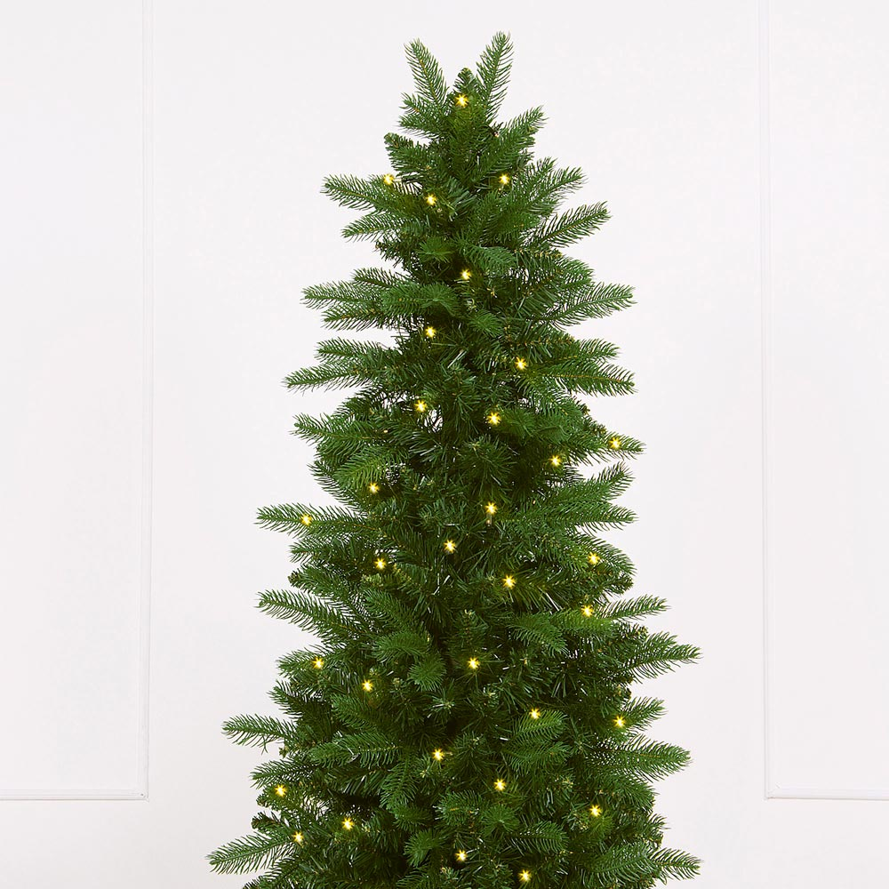 natural pre lit artificial christmas tree
