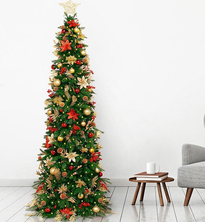 pre decorated easy to set up christmas trees