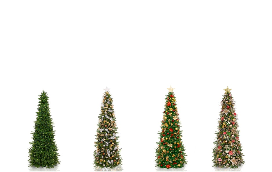 5.5 ft Natural & Decorated Trees