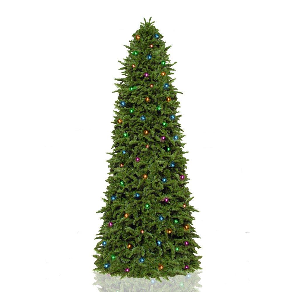 Grand Christmas Tree: Natural Grand DeluxePre-Lit Slim Tree