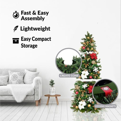 Easy Setup Christmas Tree - 5.5 Feet Mini